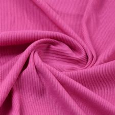 Cerise - Plain 100% Cotton 2x1 Rib
